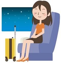 女性一人の夜行バス